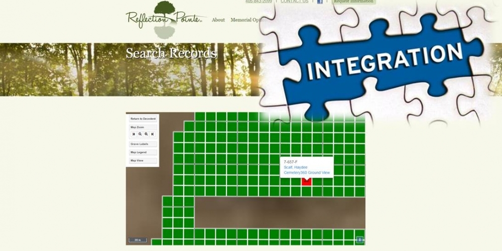 Record Management Integration - Cemetery Software 360 Ground Level Mapping